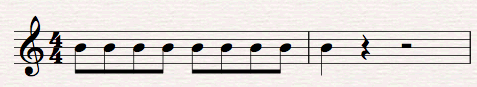 example rhythm